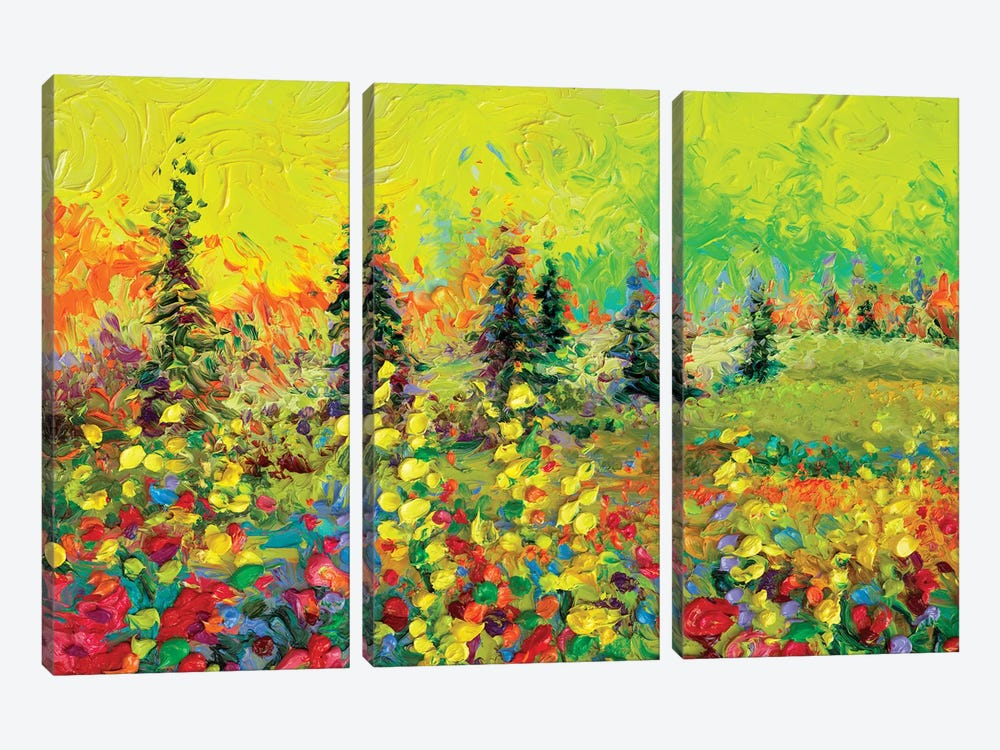 Above The Tree Line by Iris Scott 3-piece Canvas Wall Art