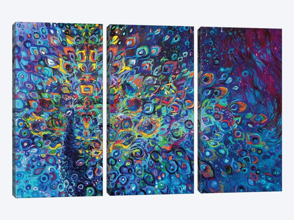 Blue Avian by Iris Scott 3-piece Canvas Art Print