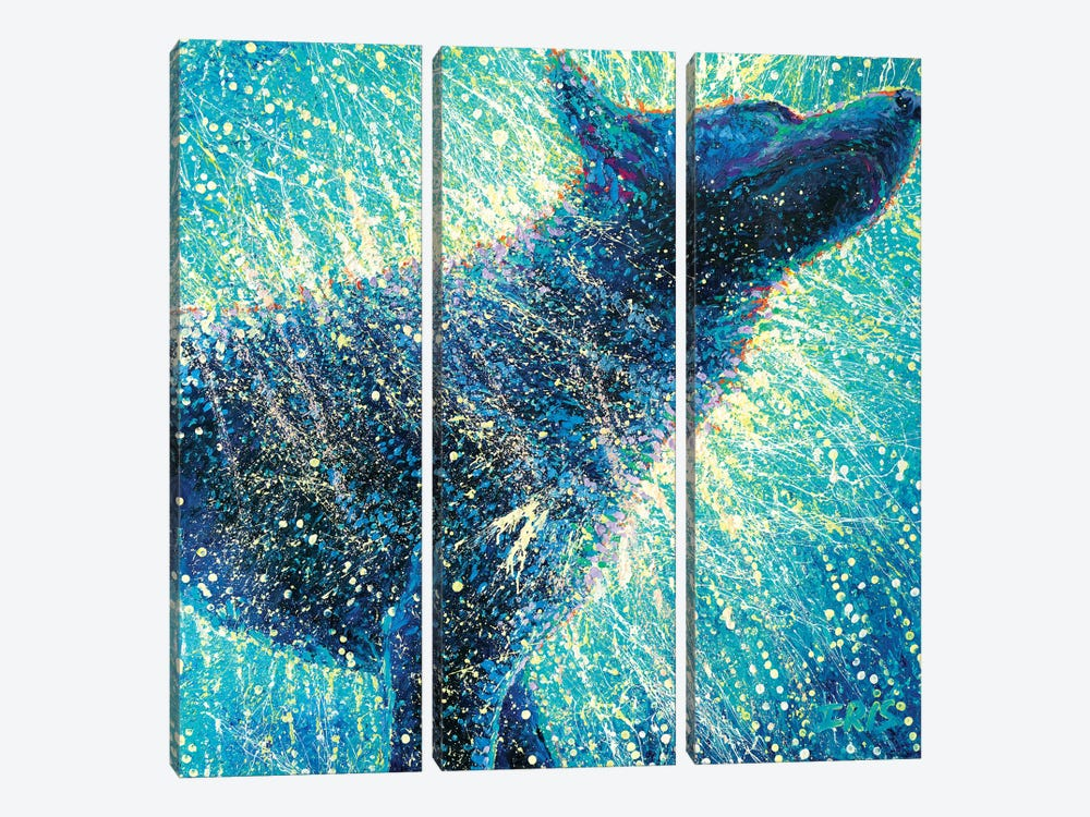 Not Only The Blues by Iris Scott 3-piece Canvas Artwork