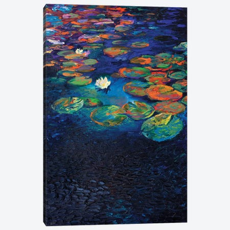 Nymphaea Lotus Canvas Print #IRS231} by Iris Scott Canvas Art Print