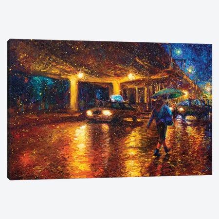 Midnight in Gowanus Canvas Print #IRS254} by Iris Scott Canvas Art