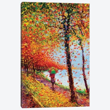 Emma Walks Lakeview Canvas Print #IRS25} by Iris Scott Canvas Artwork