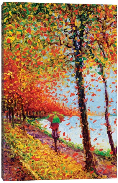 Emma Walks Lakeview Canvas Art Print