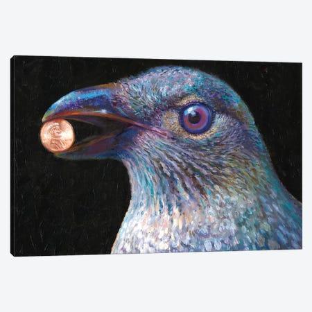 Bower Bird Canvas Print #IRS266} by Iris Scott Canvas Art Print