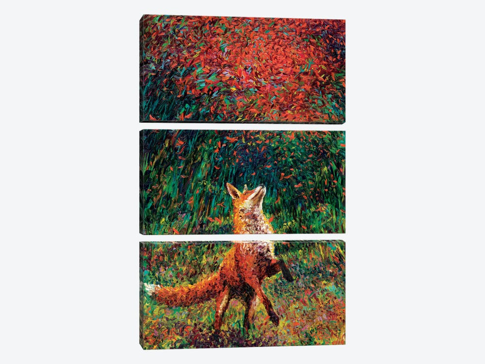 Fox Fire by Iris Scott 3-piece Canvas Wall Art
