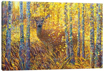 Deer Demure Canvas Art Print