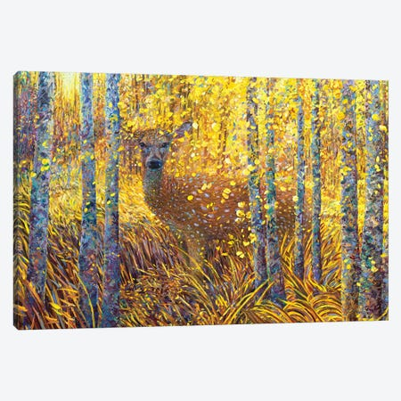 Deer Demure 3-Piece Canvas #IRS271} by Iris Scott Canvas Print