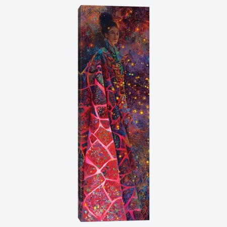 Fuchsia Shamanka Canvas Print #IRS274} by Iris Scott Canvas Art
