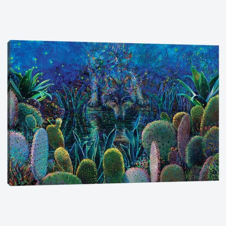 Lobo Sirocco Canvas Print #IRS277} by Iris Scott Canvas Artwork