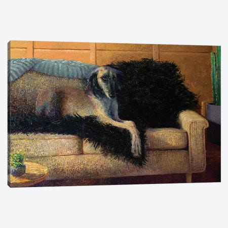 Madam Saluki Canvas Print #IRS278} by Iris Scott Canvas Art Print