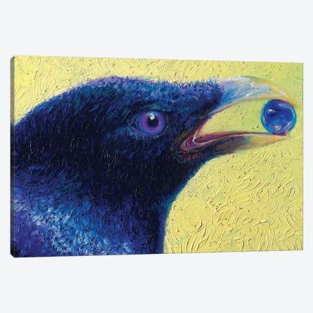 Ritual In Pairing Black Bird Canvas Print #IRS284} by Iris Scott Canvas Print