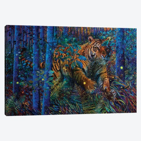 Tiger Fire Smaller Canvas Print #IRS290} by Iris Scott Canvas Print