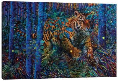 Tiger Fire Smaller Canvas Art Print