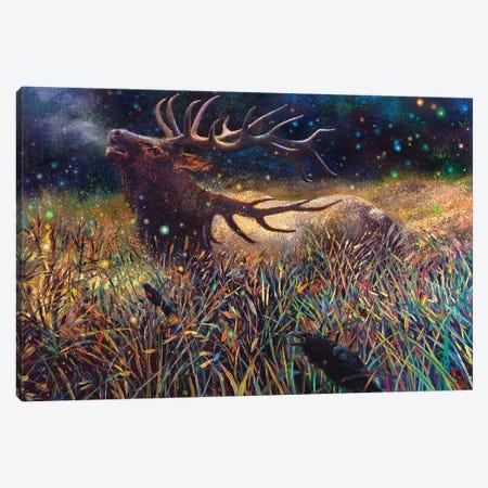 Wapiti Canvas Print #IRS294} by Iris Scott Canvas Artwork