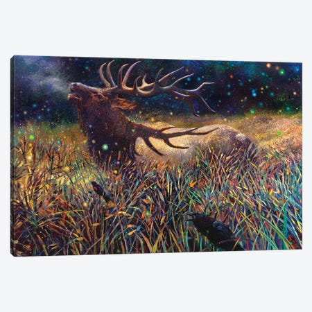 Wapiti Canvas Print #IRS294} by Iris Scott Canvas Artwork