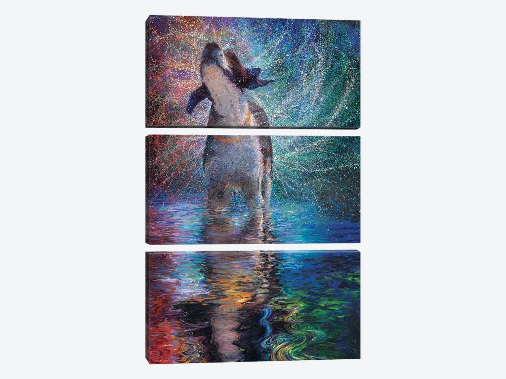 Canis Arcus by Iris Scott 3-piece Canvas Print