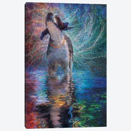 Canis Arcus Canvas Print #IRS295} by Iris Scott Canvas Art