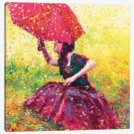 Apple Blossom Rain Canvas Print #IRS2} by Iris Scott Art Print