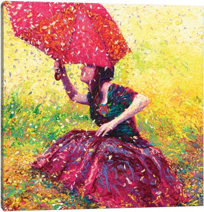 Apple Blossom Rain Canvas Art Print