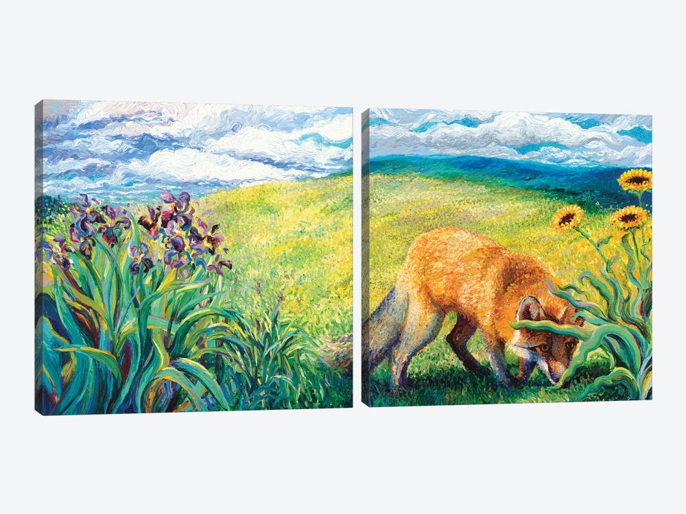 Foxy Diptych by Iris Scott 2-piece Canvas Art Print