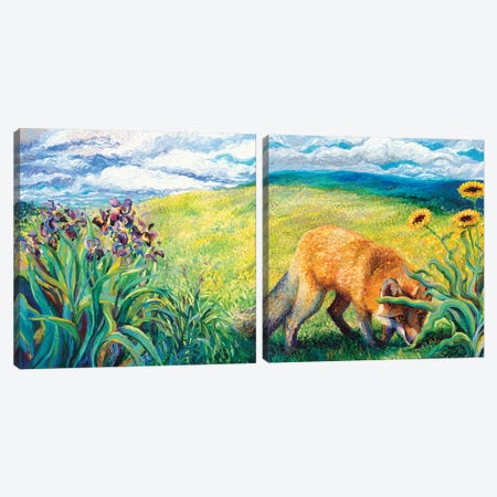 Foxy Diptych Canvas Print Set #IRS2HSET008} by Iris Scott Canvas Print