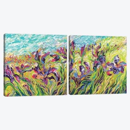 Irises Diptych Canvas Print Set #IRS2HSET012} by Iris Scott Canvas Art