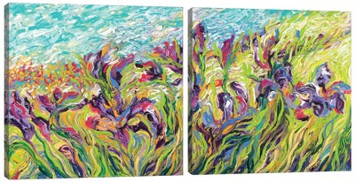 Irises Diptych Canvas Art Print