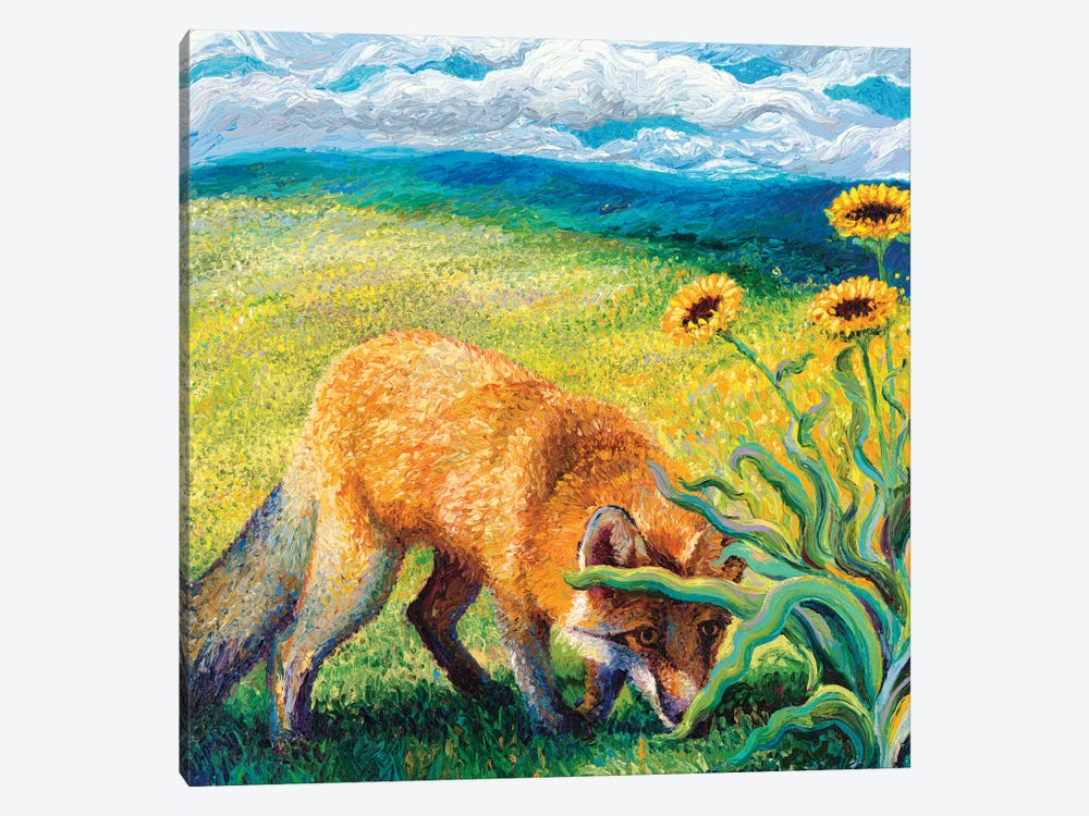 Foxy Triptych Panel II by Iris Scott 1-piece Canvas Artwork