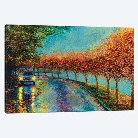 Lake Washington Boulevard Canvas Print #IRS38} by Iris Scott Canvas Art