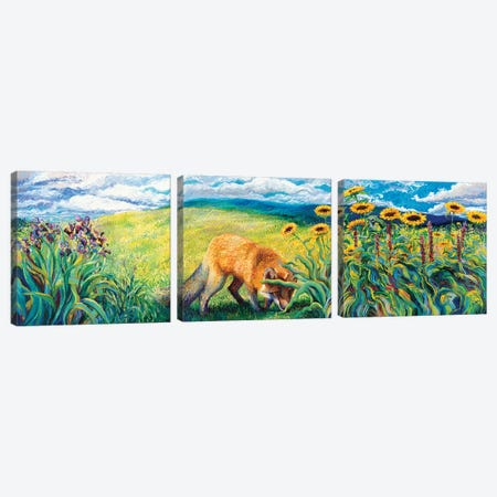 Foxy Triptych Canvas Print Set #IRS3HSET002} by Iris Scott Canvas Print
