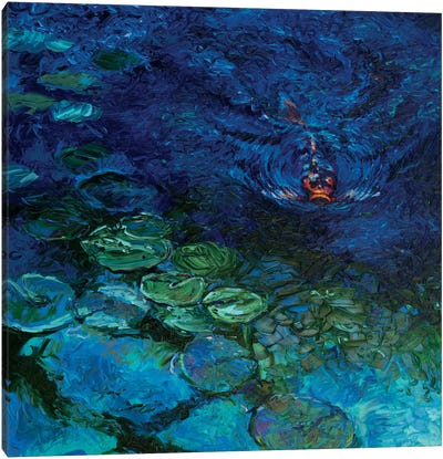 Lone Koi Canvas Art Print