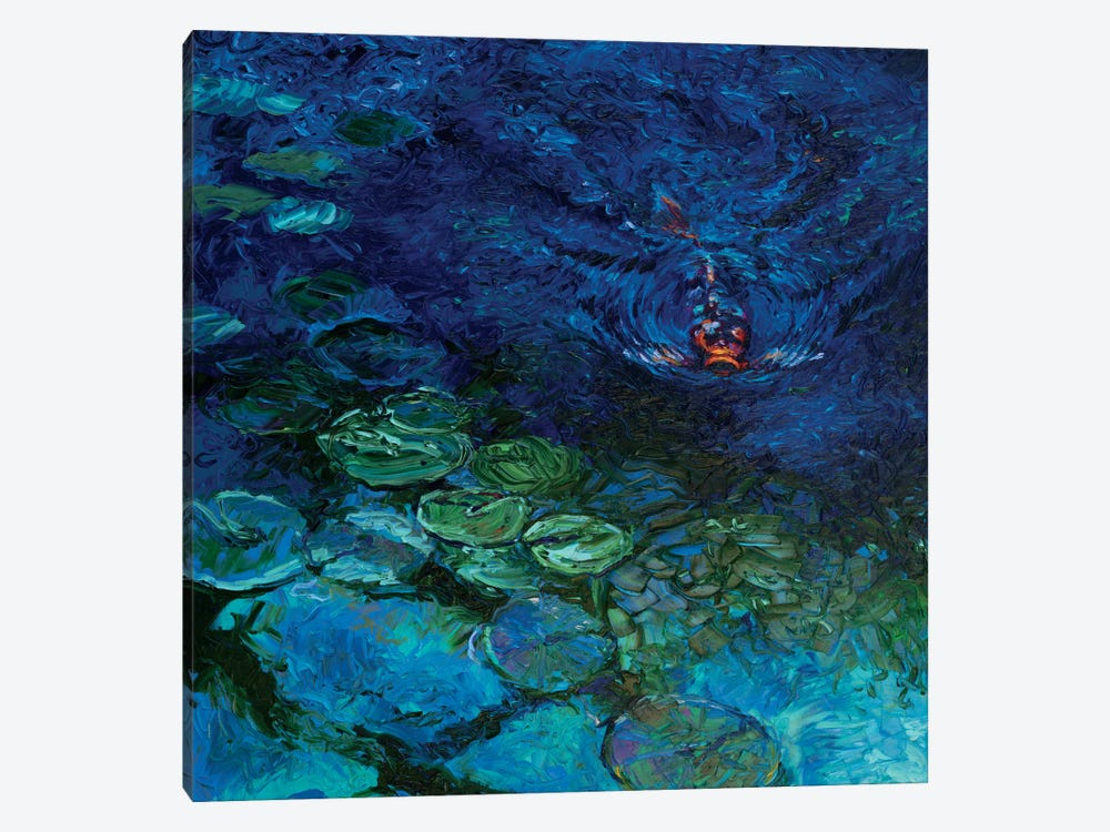 Lone koi canvas art print by iris scott icanvas for Koi canvas print