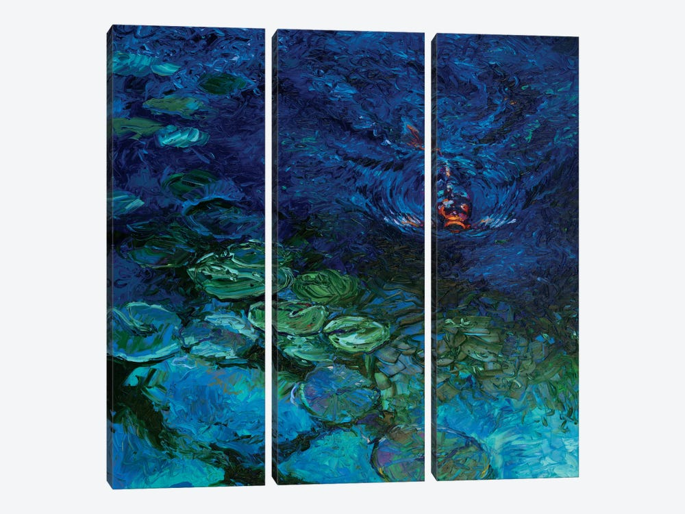 Lone Koi by Iris Scott 3-piece Canvas Art