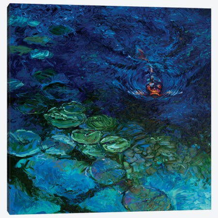 Lone Koi Canvas Print #IRS40} by Iris Scott Art Print