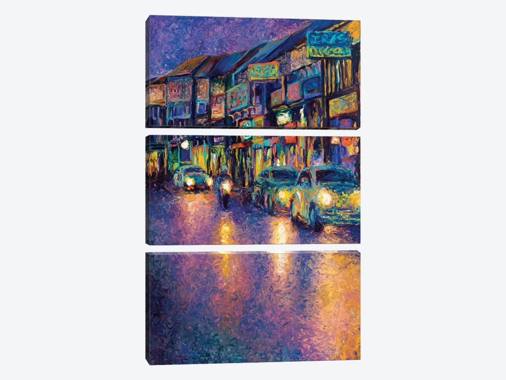 My Thai Headlights by Iris Scott 3-piece Canvas Print
