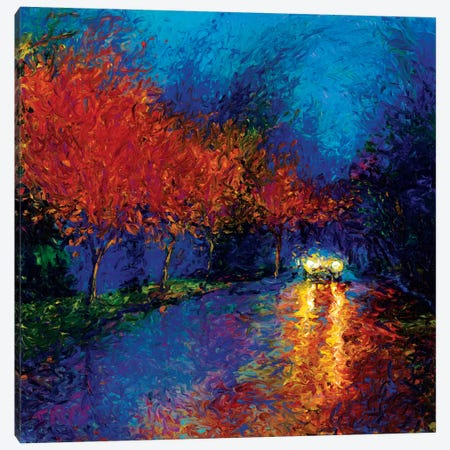 Bathed In Headlights Canvas Print #IRS4} by Iris Scott Canvas Art