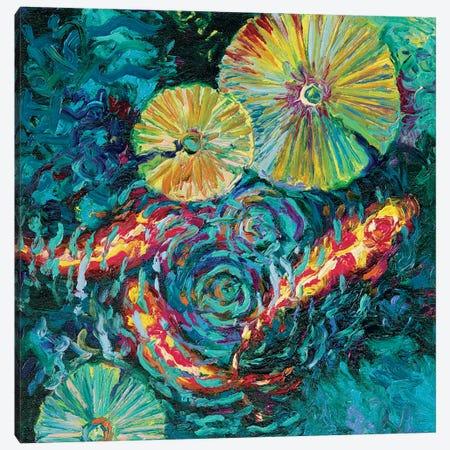 Pesci In Sunflowers Canvas Print #IRS54} by Iris Scott Art Print