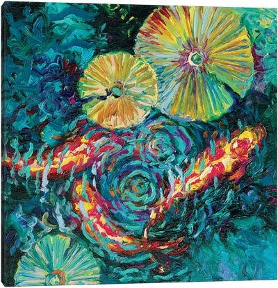 Pesci In Sunflowers Canvas Art Print