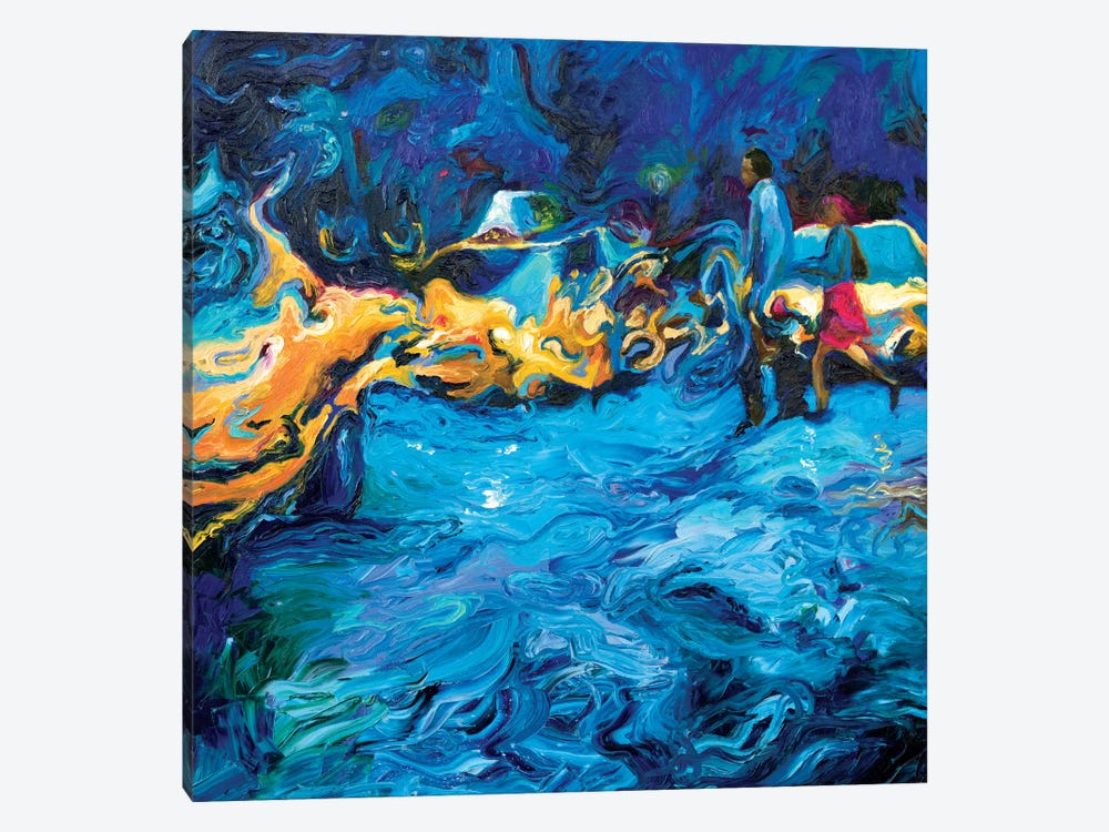 Running In Rain by Iris Scott 1-piece Canvas Art