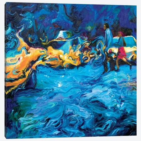 Running In Rain Canvas Print #IRS60} by Iris Scott Canvas Print