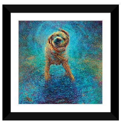 Shakin' Off The Blues Framed Art Print