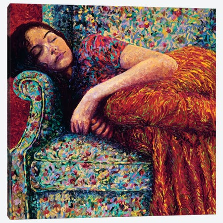 Sleepy Lee Canvas Print #IRS67} by Iris Scott Canvas Artwork