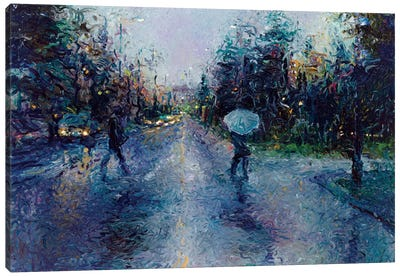 Slippery Sidewalk Canvas Art Print