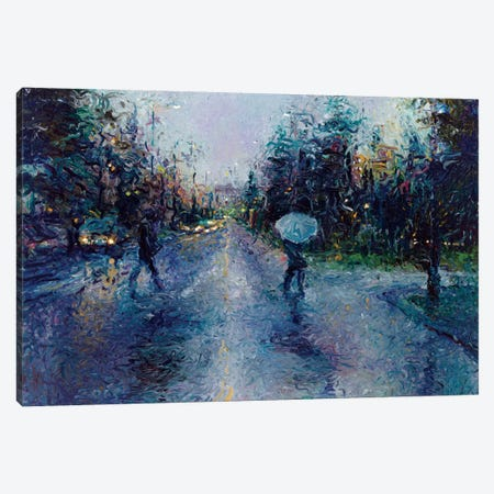 Slippery Sidewalk Canvas Print #IRS68} by Iris Scott Canvas Art Print