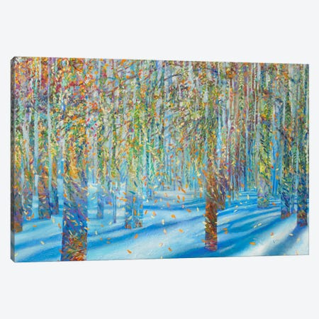 Snow Fall Canvas Print #IRS70} by Iris Scott Canvas Wall Art