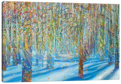 Snow Fall Canvas Art Print