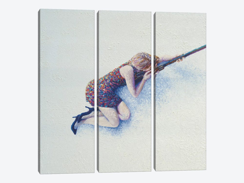 Snow Sniper by Iris Scott 3-piece Canvas Art