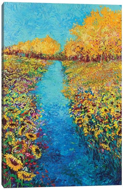 Sunflower Triptych Panel II Canvas Art Print