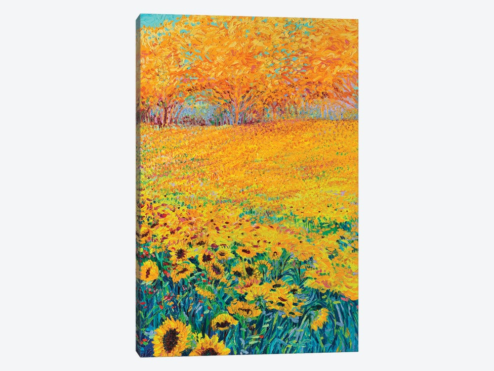 Sunflower Triptych Panel III by Iris Scott 1-piece Art Print