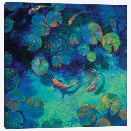 Taiwanese Blue Canvas Print #IRS83} by Iris Scott Canvas Print